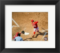 Framed Bryce Harper 2015 Action