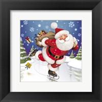 Framed Santa's Skating This Christmas