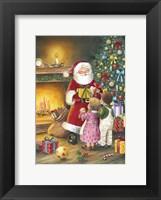 Framed Children Meet Santa