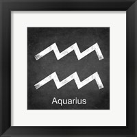Framed Aquarius - Black