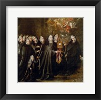Framed Procession of Saint Clare