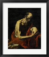 Framed Saint Jerome Meditating