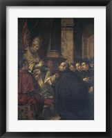 Framed Saint Ignatius of Loyola Receives Papal Bull from Pope Paul III
