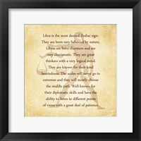 Libra Character Traits Framed Print