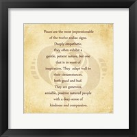 Framed Pisces Character Traits