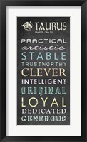 Taurus Bus Roll Framed Print