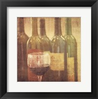 Framed Wine Vignette II