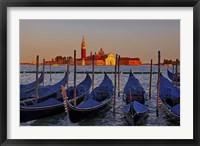 Framed Gondolas at Sunset