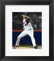 Framed Jacob deGrom 2015 Action
