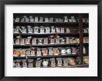 Framed Bowling Shoes on a Shelf