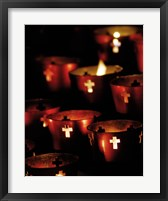 Framed Lighted Candles