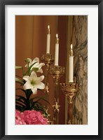 Easter Candles Framed Print