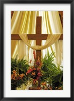 Easter Cross Framed Print