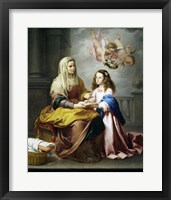 Framed Saint Anne and the Virgin