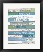 Porch Rules Framed Print