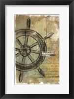 Framed Ship Wheel