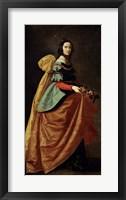 Framed Saint Casilda, 1640
