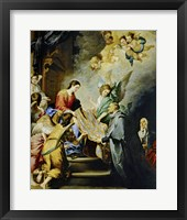 Framed Descent of Virgin Mary to Reward the Writing of Saint Ildefonso of Toledo