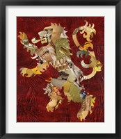 Framed Lion Crest