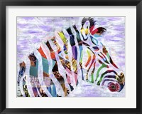 Purple Zebra Framed Print