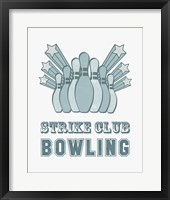 Framed Strike Club Bowling