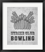 Framed Strike Club Bowling - Gray