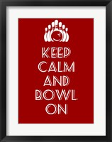 Framed Keep Calm and Bowl On