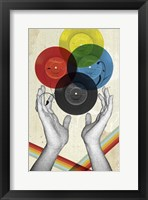 CMYK The Creation Of Retro Framed Print