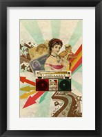 Retro Radio Framed Print