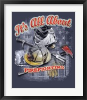 Firefighters Framed Print