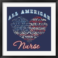 All American Nurse Framed Print