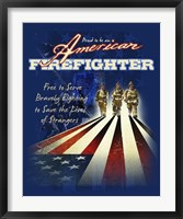 Framed American Firefighters