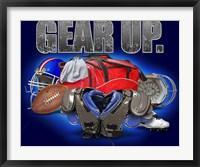 Framed Gear Up Football