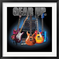 Gear Up Guitars Framed Print