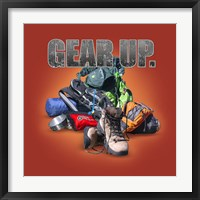 Gear Up Hiking Framed Print
