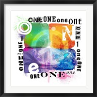 Peace One Framed Print