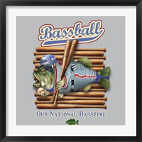 Bassball Framed Print