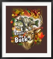 Bassin'  the Buck Framed Print
