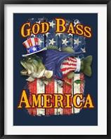 God Bass America Framed Print