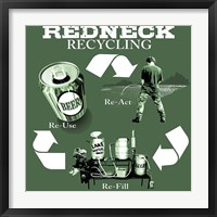 Redneck Recycling Framed Print