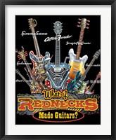 Redneck Guitar Framed Print