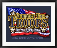 Framed Support the Troops Fighting Chance
