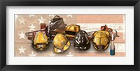 Framed Firefighters Stand Tall