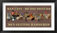 Hammered Framed Print