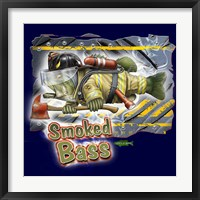 Smoked Bass Framed Print