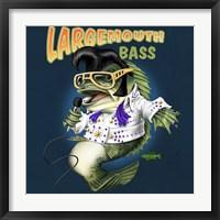 Framed Largemouth Bass