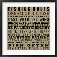 Fishing Rules Framed Print