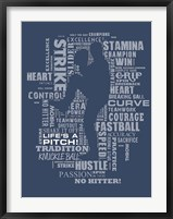 Framed Baseball Words