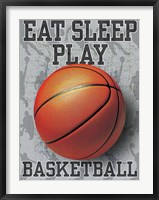 Eat Sleep Play Basketball Framed Print