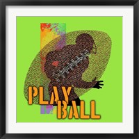 Framed Play Ball Football